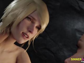 Futanari with gigantic dick - 3d porn game animation
