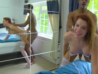 Hot t-girl broad gets nailed by a BBC and gets creampied